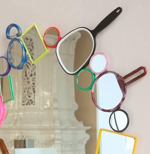 Un Espejo Original Decorado Con Espejos Decoracion - Espejo-original
