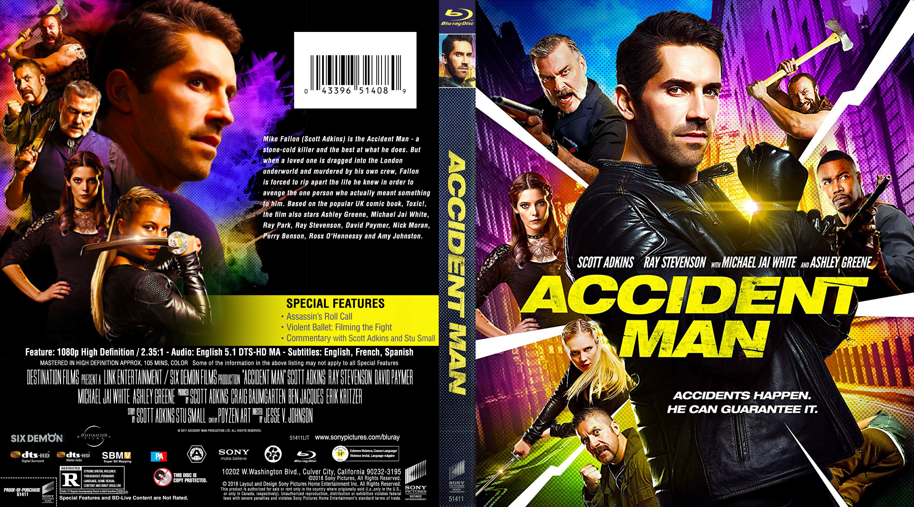 Accident Man Bluray Cover | Cover Addict - Free DVD, Bluray