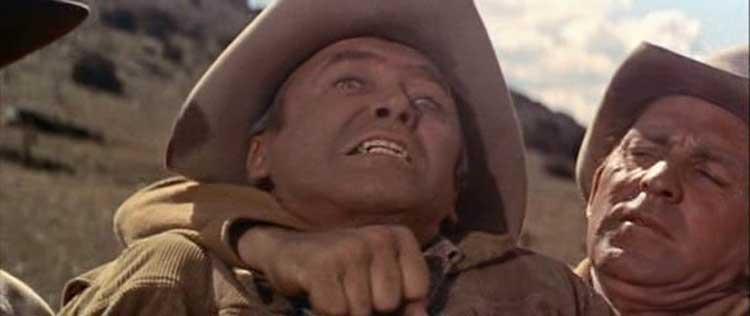 Jimmy Stewart battles Arthur Kennedy in The Man from Laramie.