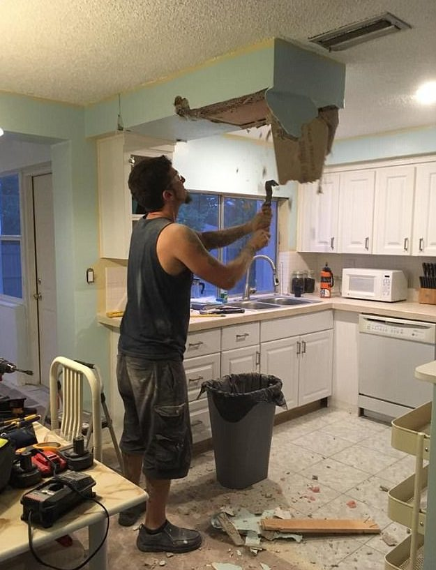 2tuo7xG A Couple Was Remodelling Their Kitchen When Things Started Falling From The Ceiling! What They Found In The Ceiling SHOCKED THEM!