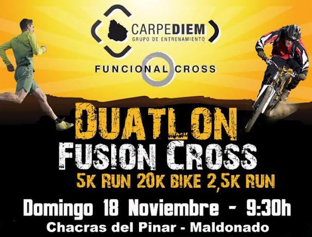 Duatlón Fusión Cross en Chacras del Pinar (Maldonado, 18/nov/2018)