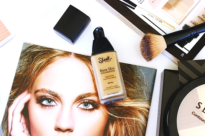 Sleek Bare skin liquid foundation in Barley 380 review.Best olive skin foundations.