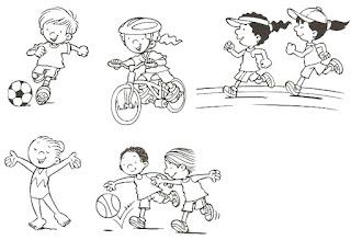 Brincadeiras crianças-bicicleta