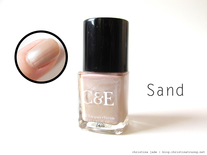 Crabtree & Evelyn Nail Polish Collection Swatches Sand Review