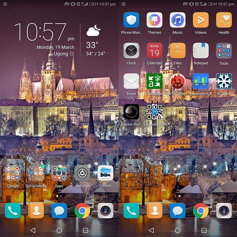 Huawei's clean and intuitive EMUI 8.0 skin