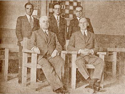Equipo español antes de su salida para la Olimpiada de Ajedrez de Praga 1931