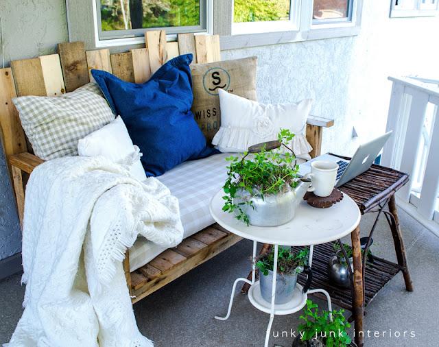 pallet sofa outdoor furniture Funky Junk Interiors