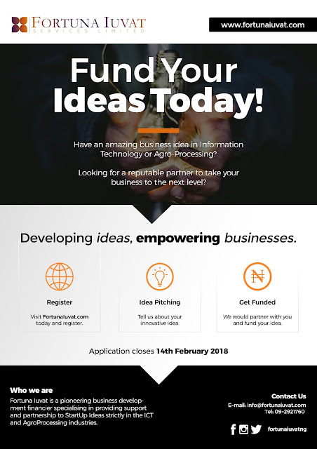 Do you have an Innovative Idea? Get Funded Today!!