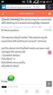 Xiaomi Mi4i: Mi Account error