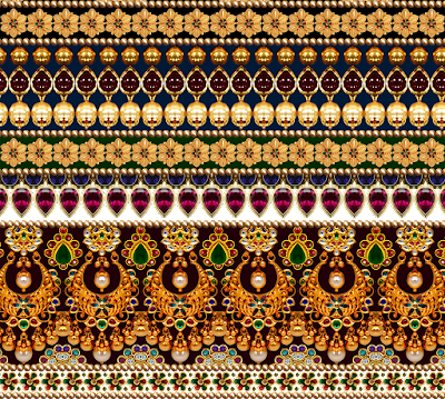 Border design for Digital textile border 601