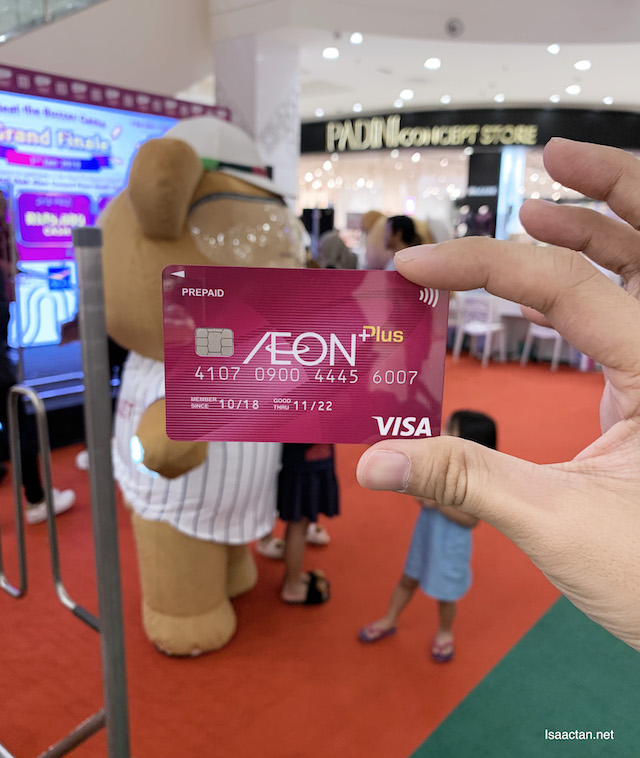 AEON Member Plus Visa Card, tied to AEON Wallet mobile app