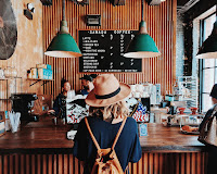 Girl in coffee shop