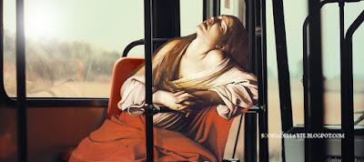 Maria Maddalena in estasi - Caravaggio-fotomontaggi di opere classiche