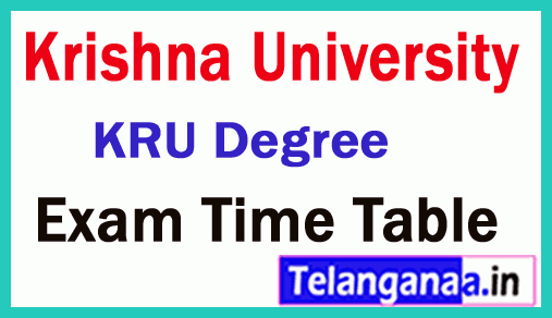 Krishna University KRU Degree Supplementary Exam Time Table
