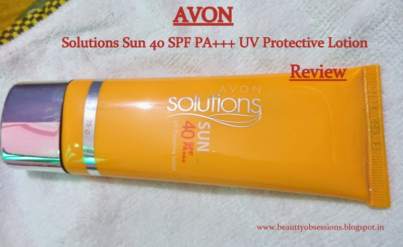 Avon Solutions Sun 40 SPF PA+++ UV Protective Lotion Review