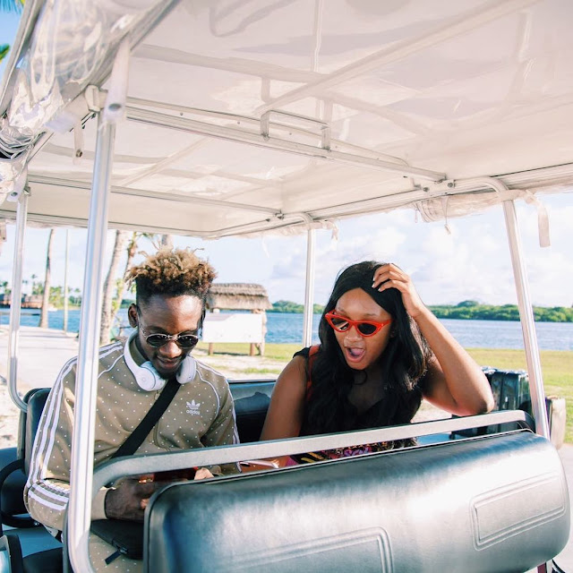 Femi Otedola Out On A Date With His Daughter Temi AND HER BEAU Mr Eazi