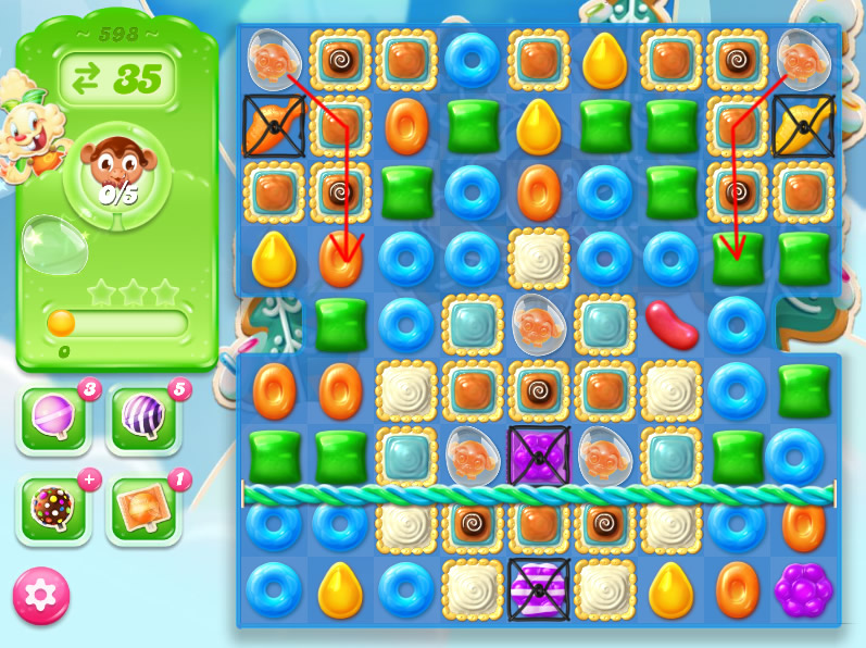 Candy Crush Jelly Saga level 598