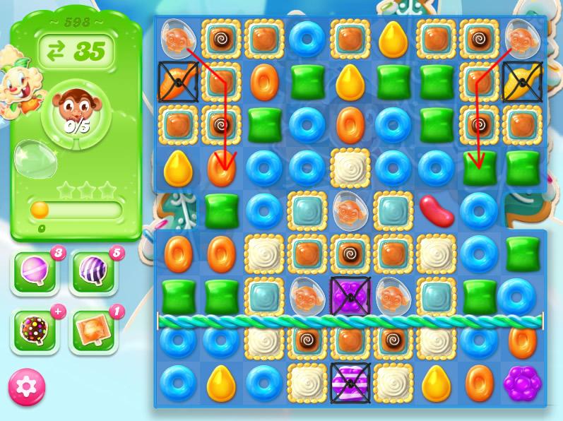 Candy Crush Jelly Saga level 598