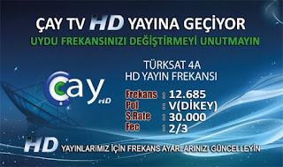 çay tv hd türksat frekans bilgileri