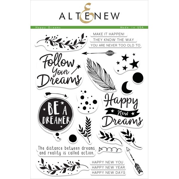 Happy Dreams Altenew stamp set (On Kim Dellow' wishlist!)