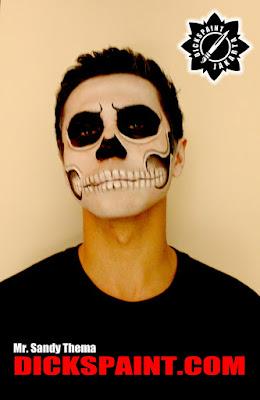 face painting horror skull jakarta