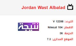 تردد قناة الاردن وسط البلد Jordan Wast Albalad الجديد 2018 على النايل سات