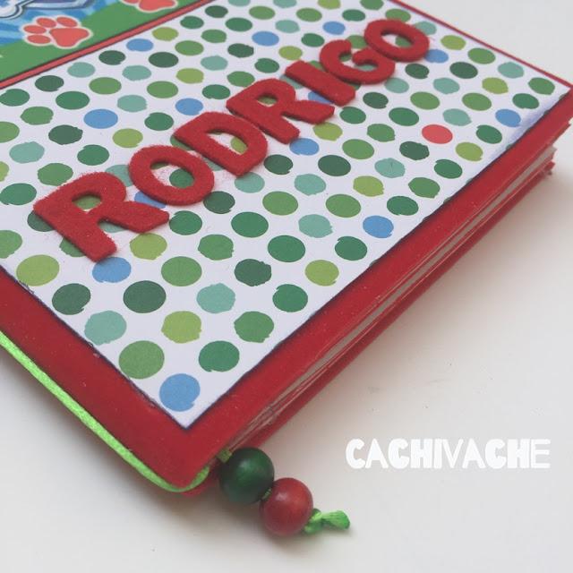 Cuaderno creativo Patrulla Canina personalizado para niño y para niña.