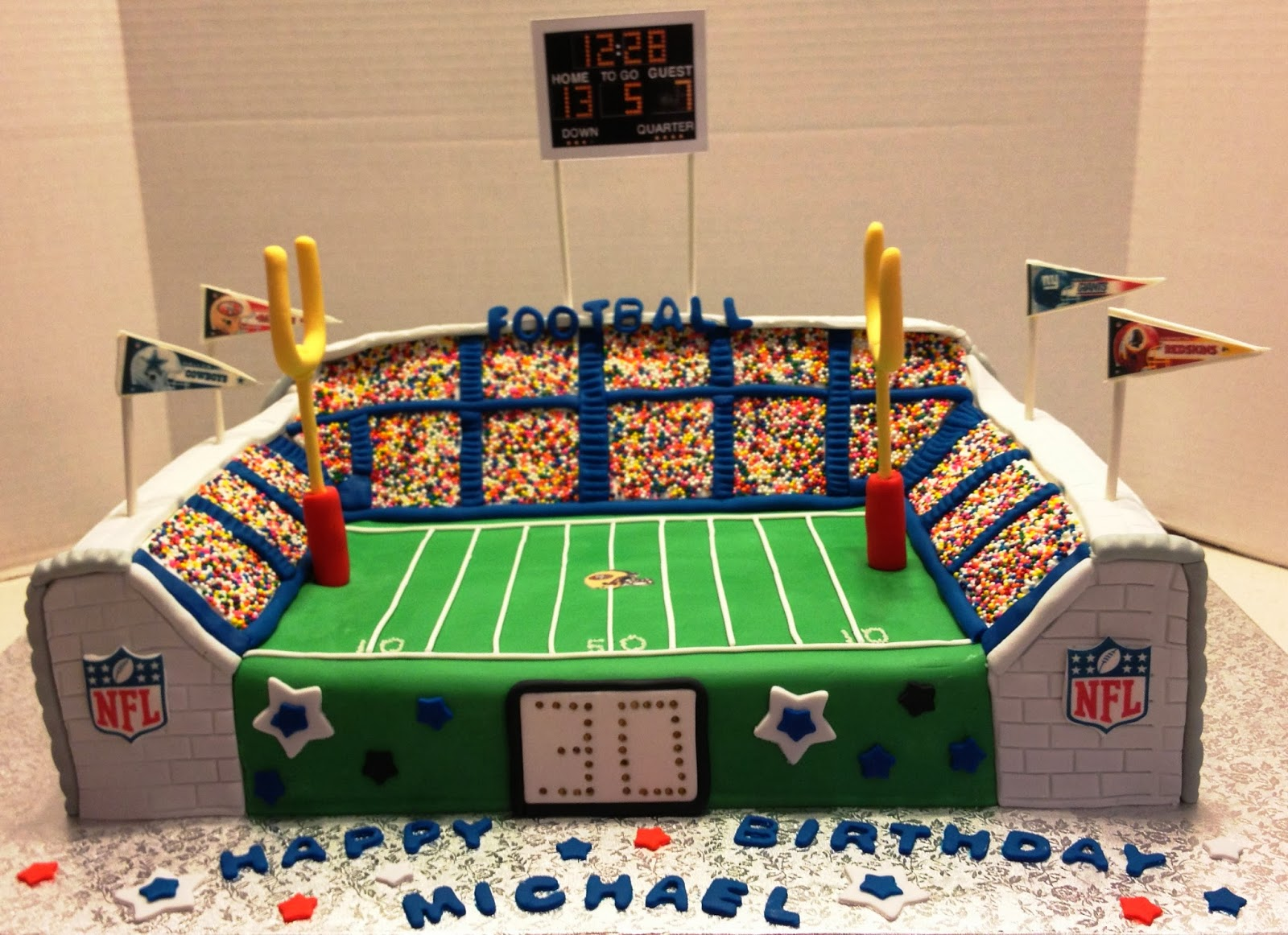 MaryMel Cakes NFL 30th Birthday