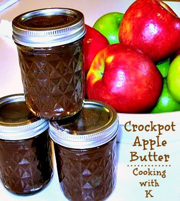 Apple butter is a highly concentrated form of apple sauce produced by long, slow cooking of apples with cider or water to a point where the sugar in the apples caramelizes, turning the apple butter a deep brown.  This is an easy Apple Butter recipe, made right in your slow cooker overnight!