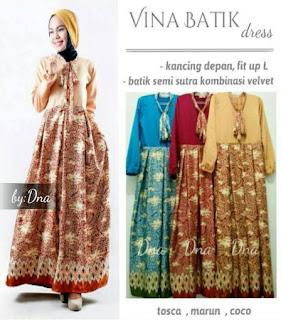 model baju muslim batik 2019