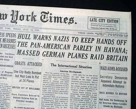 10 July 1940 worldwartwo.filminspector.com New York Times headline
