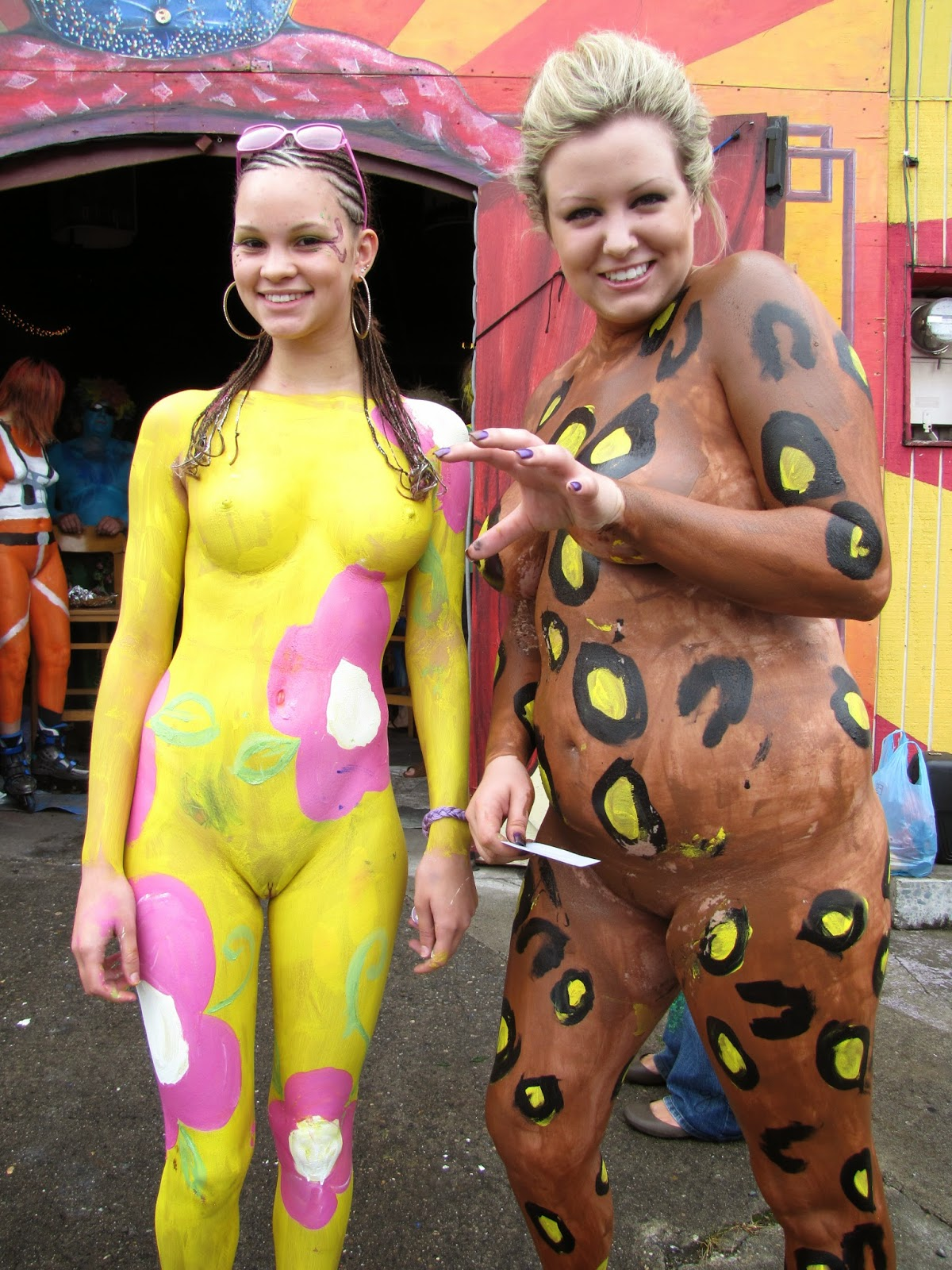Sorry, that naked girls that are painted look for