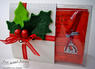 scatola regalo segnalibro Natale presepe