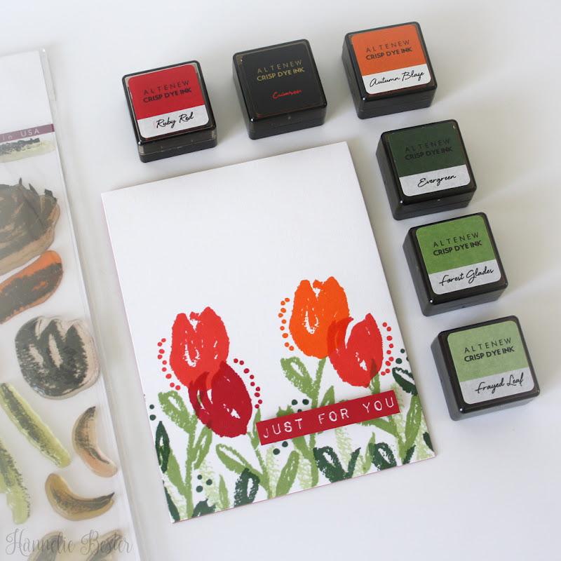 Altenew Brush art floral stamp set