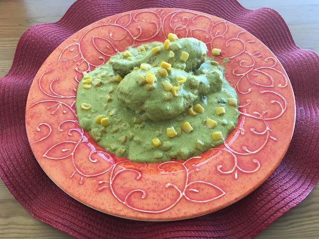 Receta de Pollo en Crema de Chile Poblano