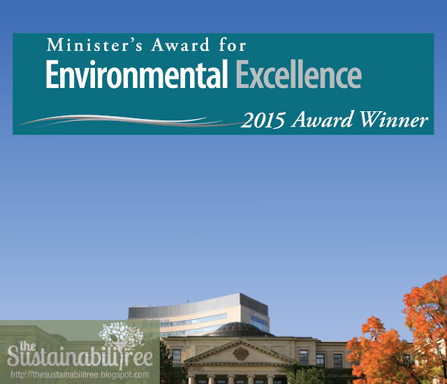 The University of Ottawa is the recipient of the Minister's Award for Environmental Excellence 2015