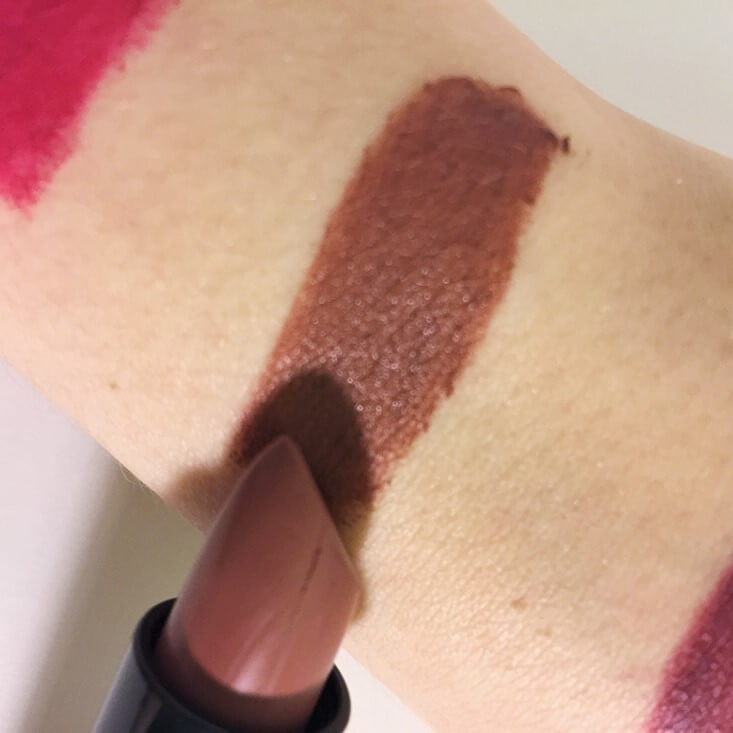 e.l.f. Velvet Matte Lipstick Blushing Brown swatch