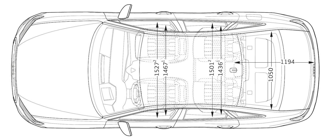 audi a6 2018 dimensioni interne, spazio passeggeri, lunghezza e larghezza bagagliaio