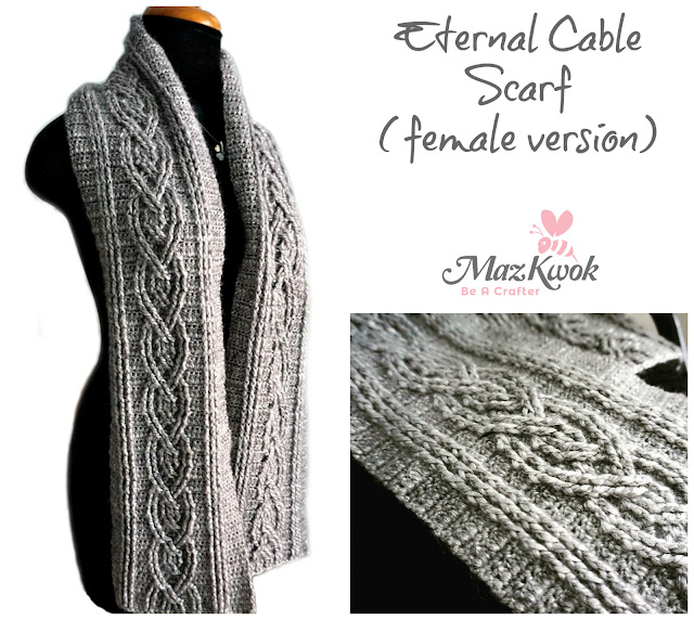 crochet cable scarf
