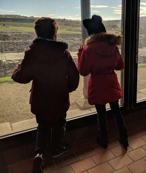 A lovely pub lunch & a trip to Corbridge Roman Town with kids - view of roman town from museum