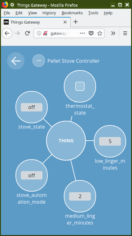 twobraids: Things Gateway - Nest Thermostat & the Pellet Stove