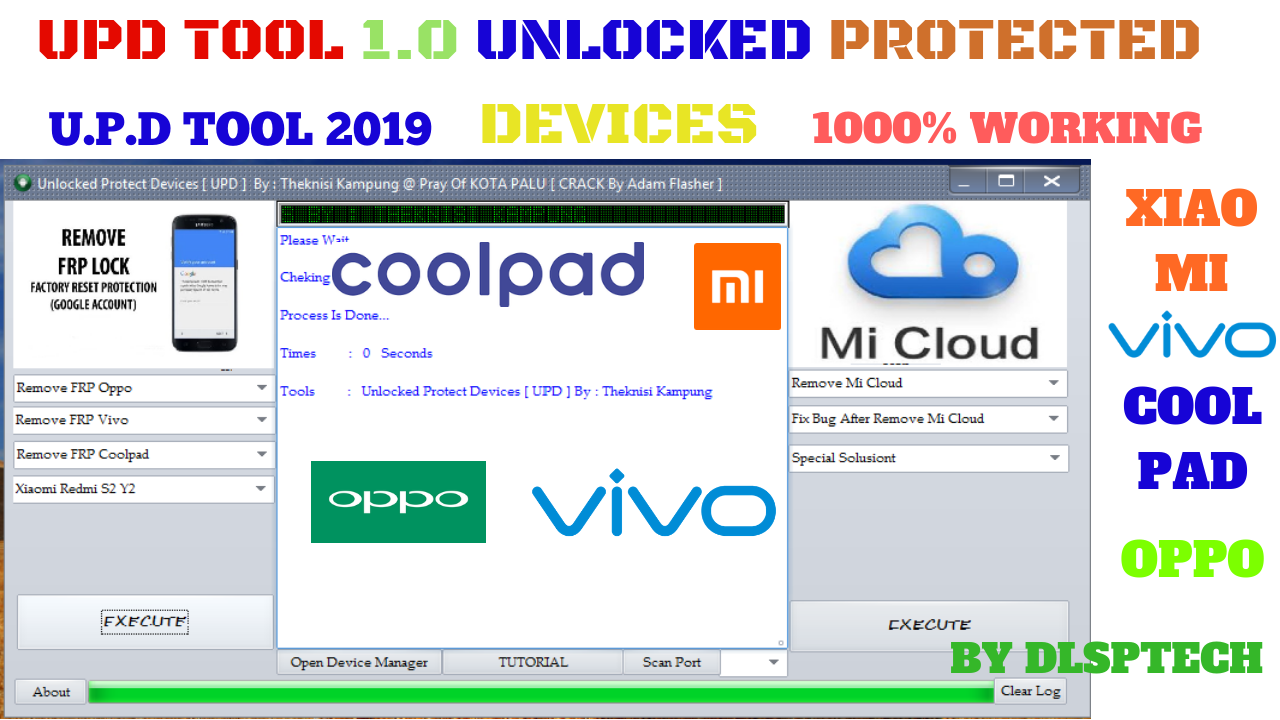 UPD FRP TOOL CRACK 1 0 2019|UNLOCKED PROTECTED DEVICES