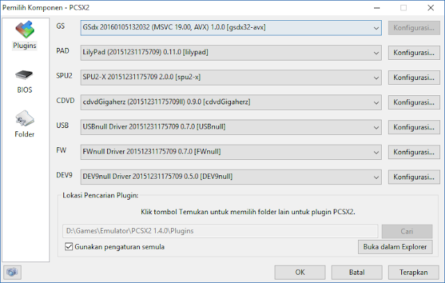 Konfigurasi PCSX2
