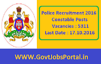 Police Recruitment 2016 for 5311 Constable Posts Apply Online Here