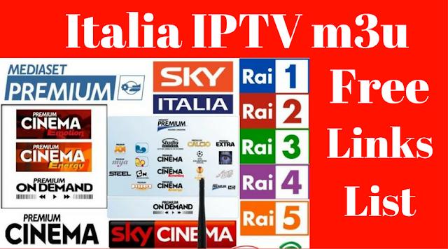 مجموعة سيرفرات Italia IPTV m3u متنوعة مجانية Links List