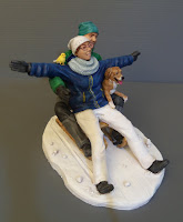 cake topper personalizzato coppia sulla neve soprammobili originali orme magiche