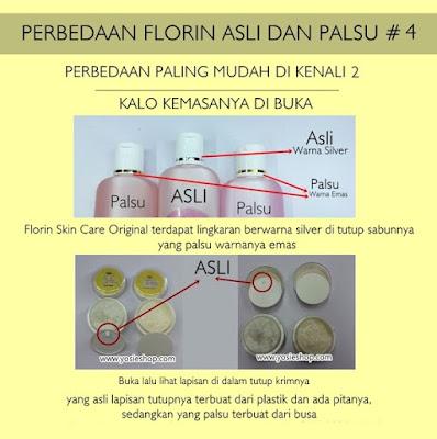 Perbedaan Florin Asli dan Palsu Pada Isi Liquid Soap dan Isi Cream