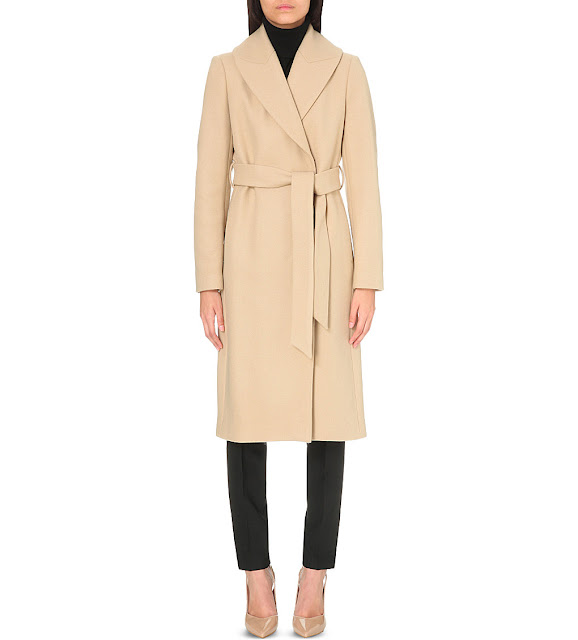 reiss camel coat, reiss cody coat, reiss wrap coat,