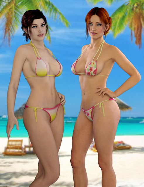Sunset Bikini for Genesis 2 Female
