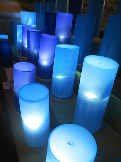 Blue votives - photo Kristina Roudiy
